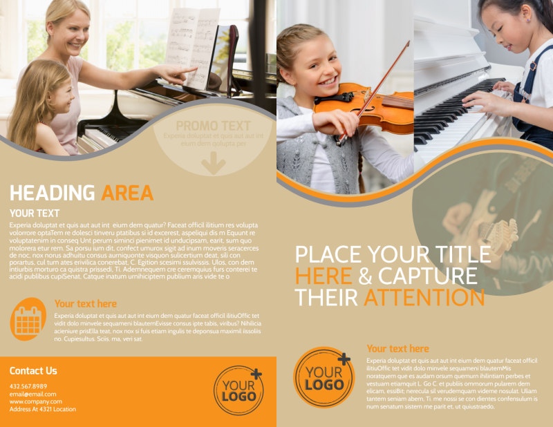 Just Beginning Music Lessons Brochure Template Preview 2