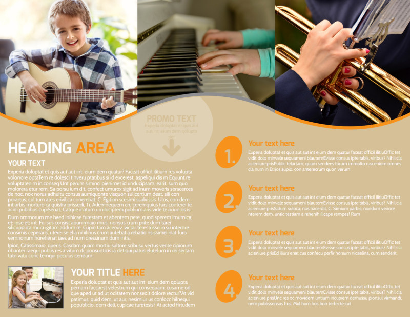 Just Beginning Music Lessons Brochure Template Preview 3