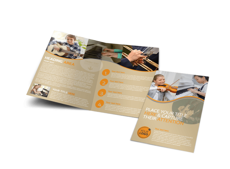 Just Beginning Music Lessons Brochure Template Preview 1