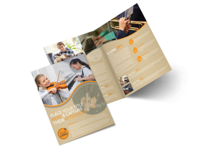 Just Beginning Music Lessons Bi-Fold Brochure Template preview