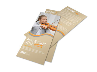 Just Beginning Music Lessons Flyer Template