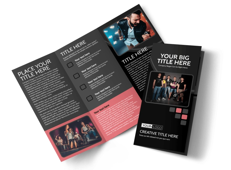 Music Band Brochure Template  Mycreativeshop