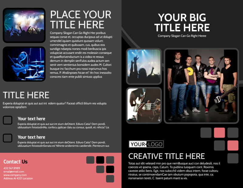 Music Band Brochure Template Preview 2