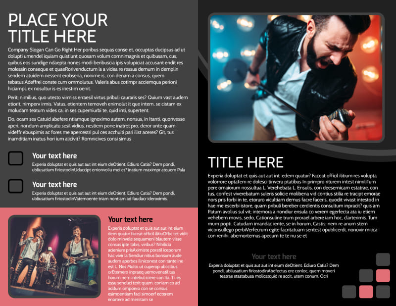 Music Band Brochure Template Preview 3