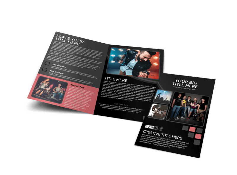 Music Band Brochure Template Preview 1