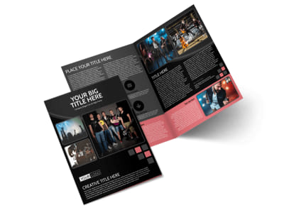 Music Band Bi-Fold Brochure Template