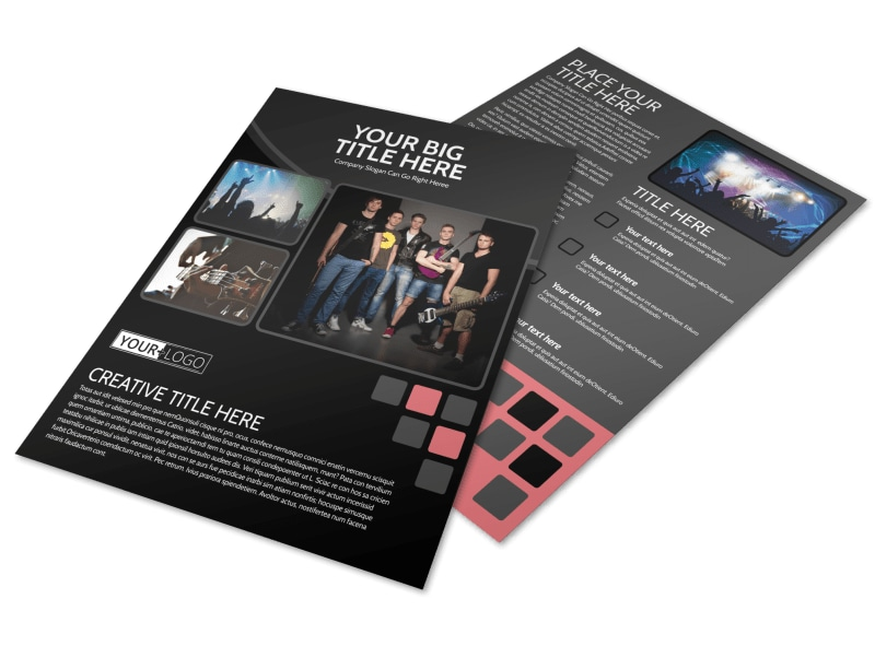 music band flyer template mycreativeshop