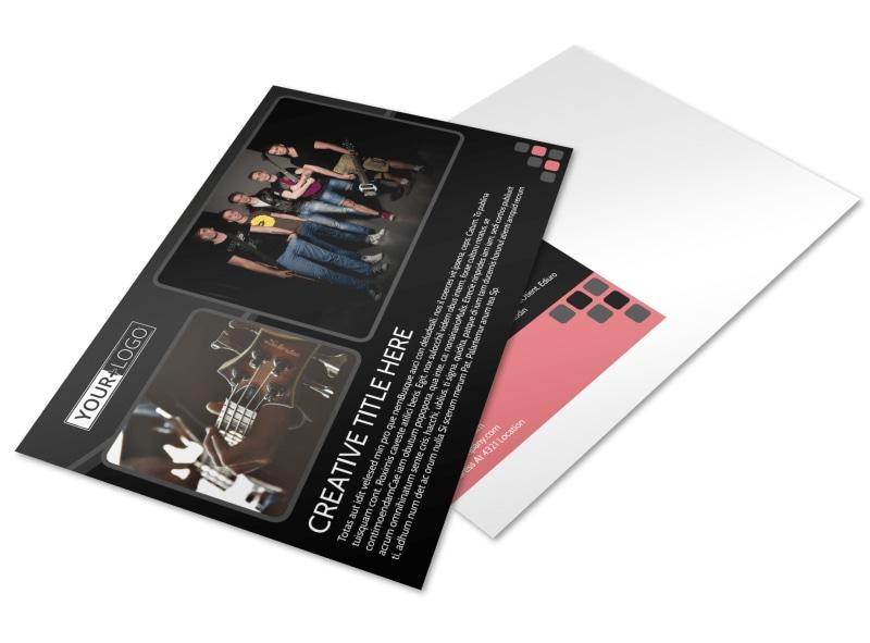 Music Band Postcard Template