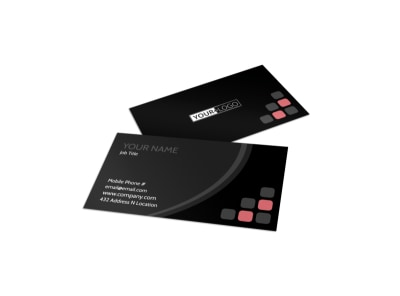 Music Band Business Card Template preview