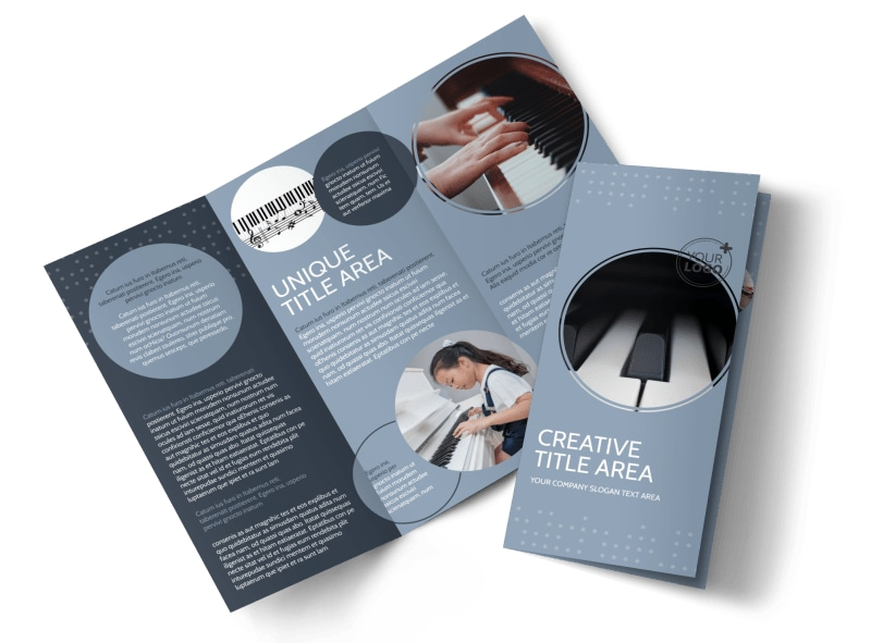 Piano Studio Tri-Fold Brochure Template