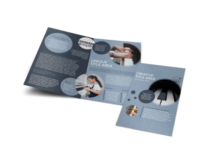 Piano Studio Bi-Fold Brochure Template preview