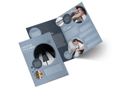 Piano Studio Bi-Fold Brochure Template