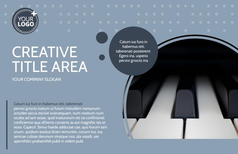 Piano Studio Postcard Template Preview 2
