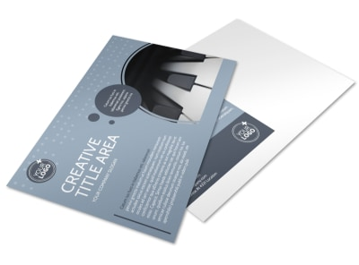 Piano Studio Postcard Template preview