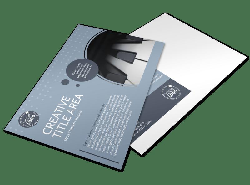 Piano Studio Postcard Template Preview 1