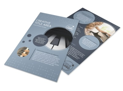 Piano Studio Flyer Template