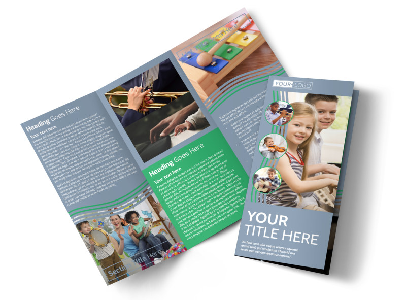 Childrens Music Academy Tri-Fold Brochure Template