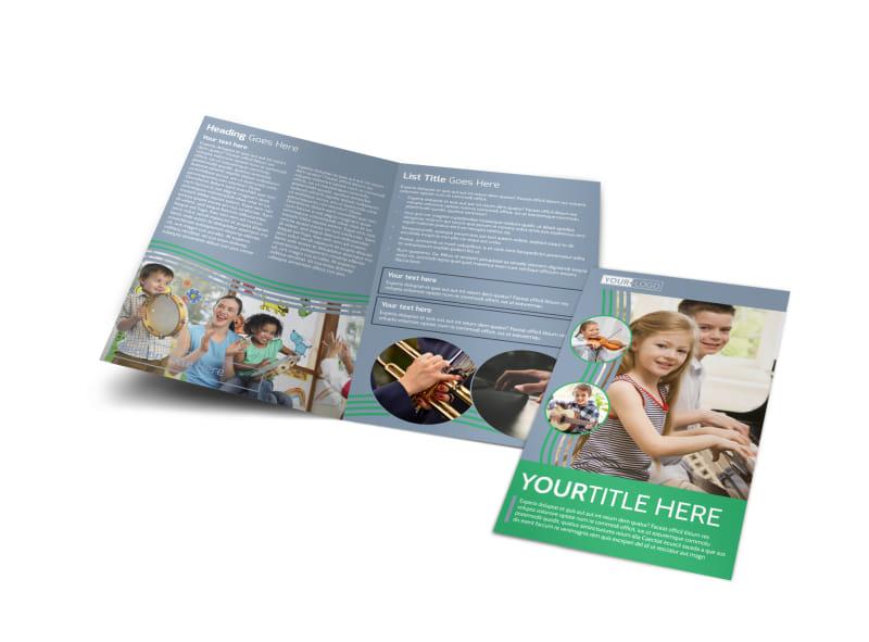 Childrens Music Academy Bi-Fold Brochure Template