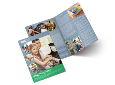 Childrens Music Academy Bi-Fold Brochure Template preview