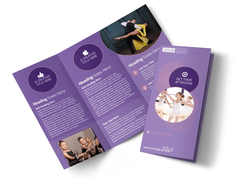 Main Dance Studio Brochure Template | Mycreativeshop
