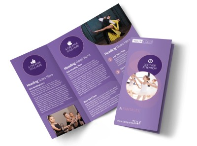 Main Dance Studio Tri-Fold Brochure Template preview