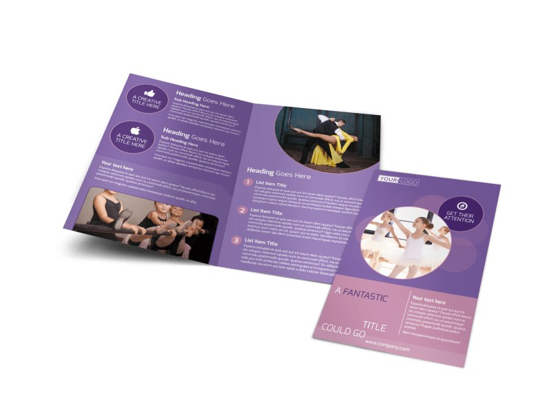 Main Dance Studio Bi-Fold Brochure Template