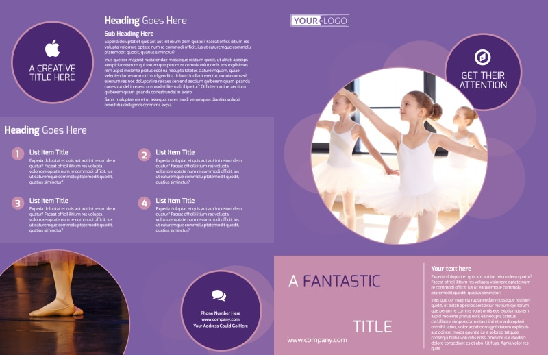 Main Dance Studio Brochure Template Preview 2