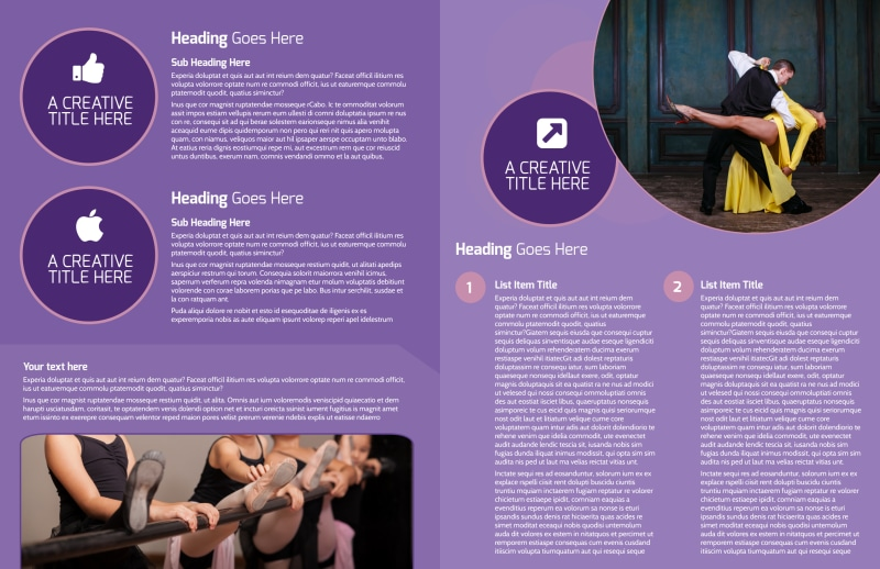 Main Dance Studio Brochure Template Preview 3