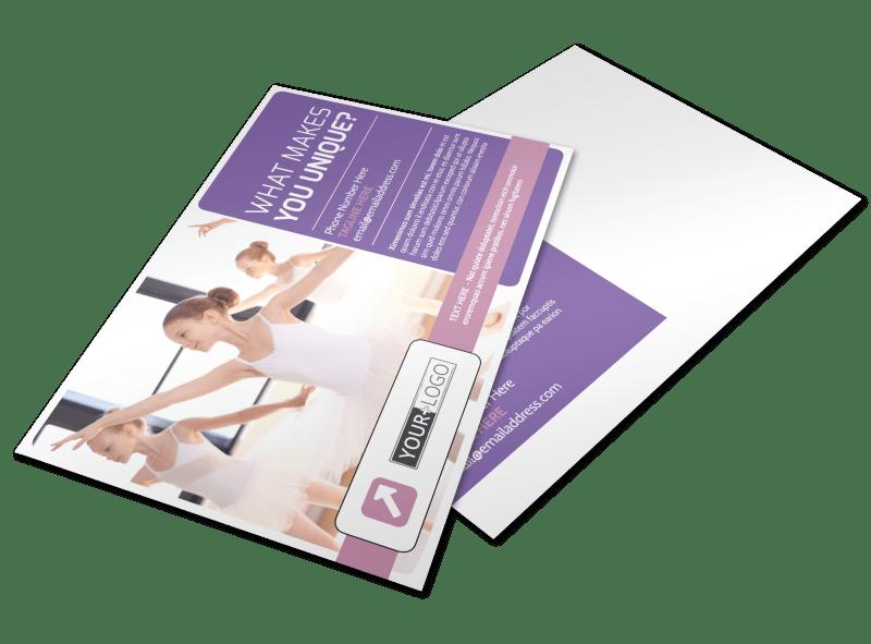 Main Dance Studio Postcard Template Preview 1