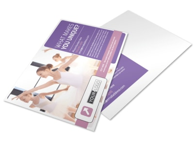 Main Dance Studio Postcard Template preview