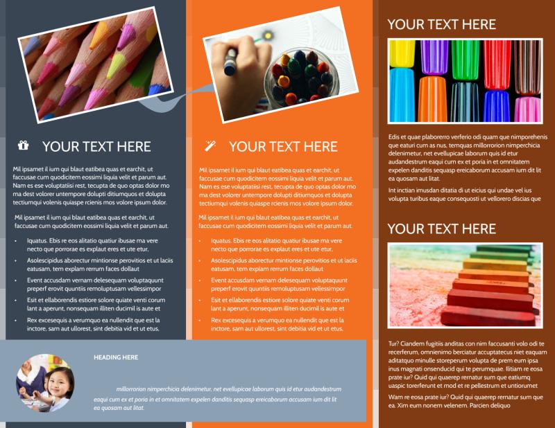 Art Materials Brochure Template Preview 3