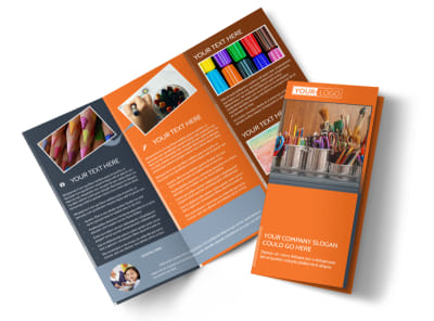 Art Materials Tri-Fold Brochure Template