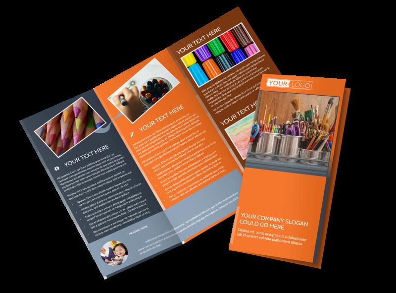 Art Materials Brochure Template Preview 1