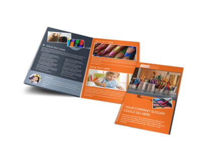 Art Materials Bi-Fold Brochure Template
