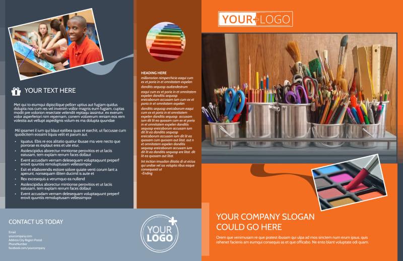 Art Materials Brochure Template Preview 2