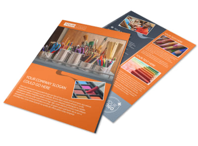 Art Materials Flyer Template preview