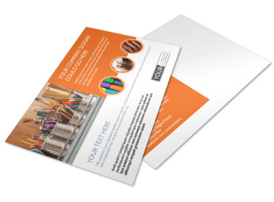 Art Materials Postcard Template preview