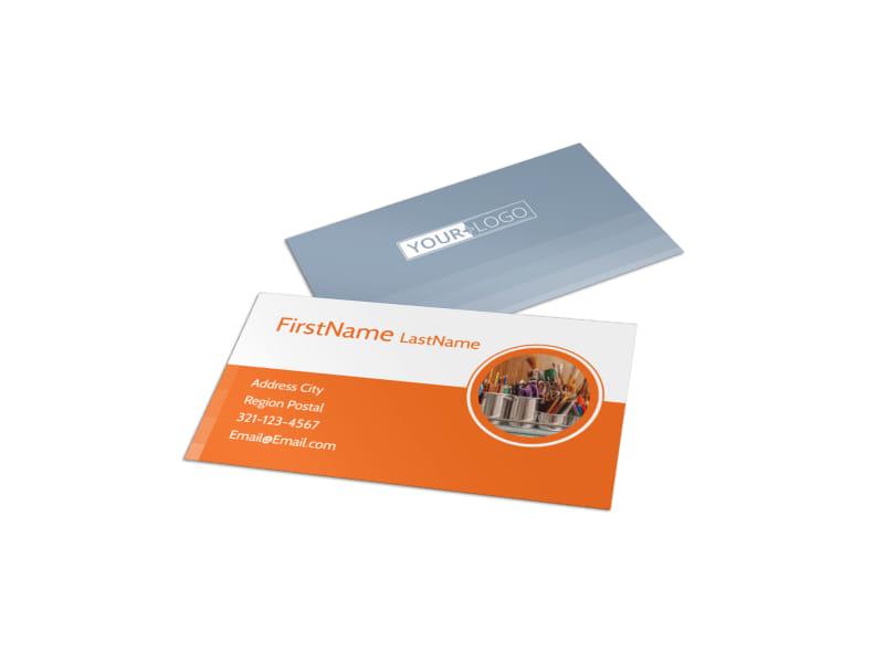 Art Materials Business Card Template