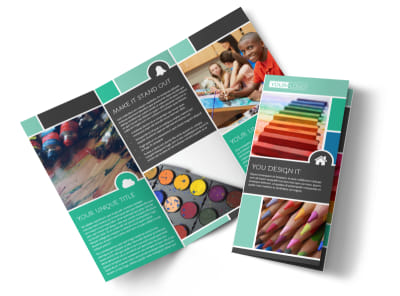 Art Supplies Tri-Fold Brochure Template