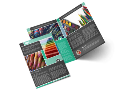 Art Supplies Bi-Fold Brochure Template preview