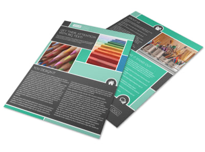 Art Supplies Flyer Template preview