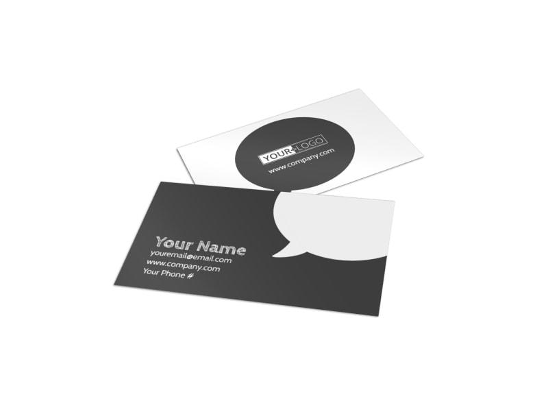 Art Supplies Business Card Template