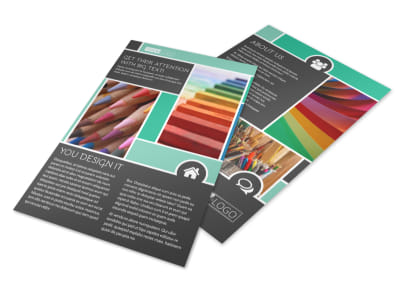 Art Supplies Flyer Template
