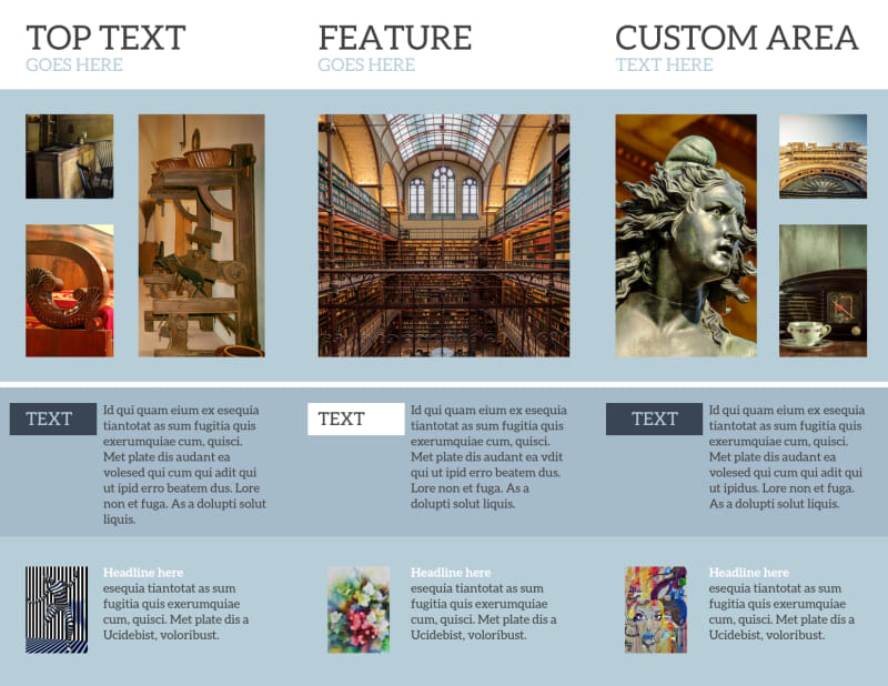 Art & Science Museum Brochure Template Preview 3
