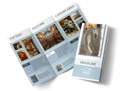 Art & Science Museum Tri-Fold Brochure Template