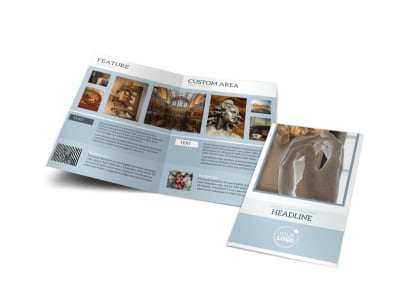 Art & Science Museum Bi-Fold Brochure Template preview