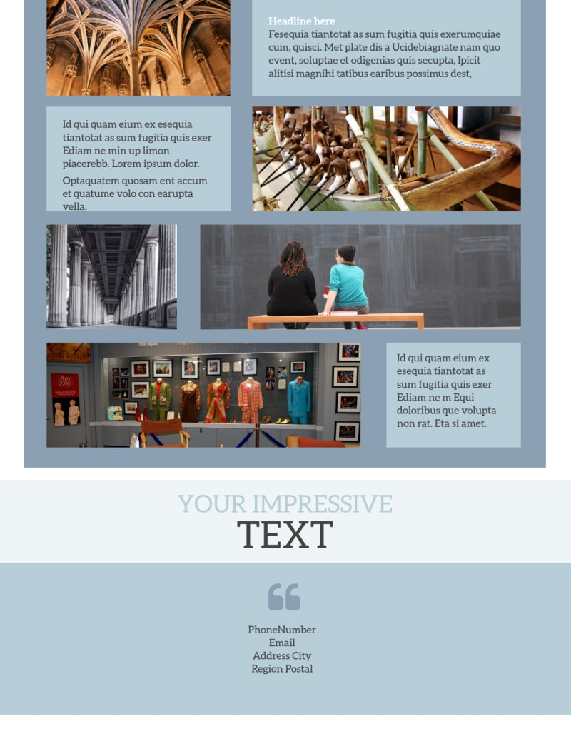 Art & Science Museum Flyer Template Preview 3