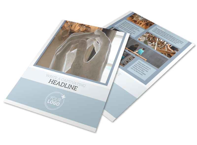 Art & Science Museum Flyer Template Preview 1