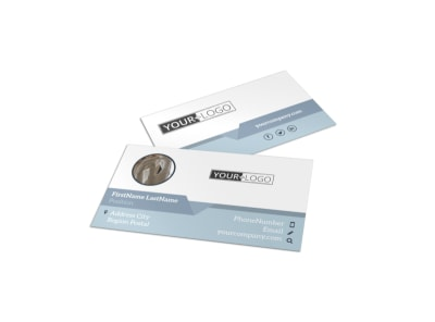 Art & Science Museum Business Card Template preview