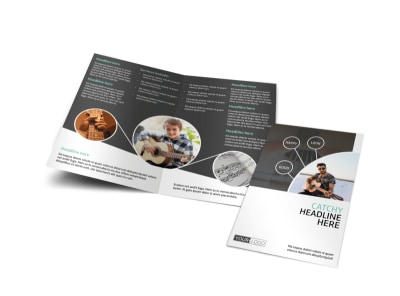 Getting Started Guitar Lessons Bi-Fold Brochure Template preview